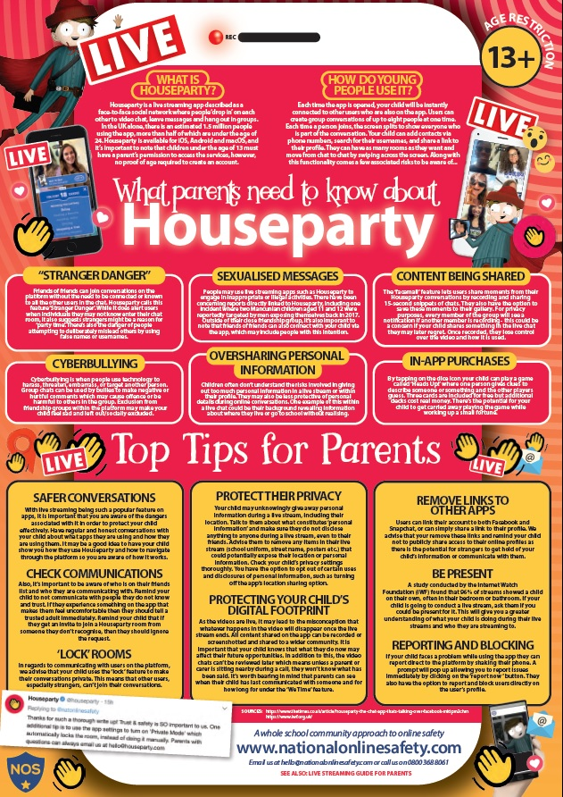 STAFFORD HIVE: What Parents Need to Know About Houseparty