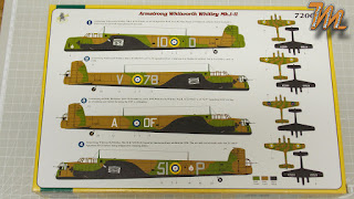Armstrong Whitworth Whitley, RAF bomber command, Fly models 72004, 1/72 scale model inbox review