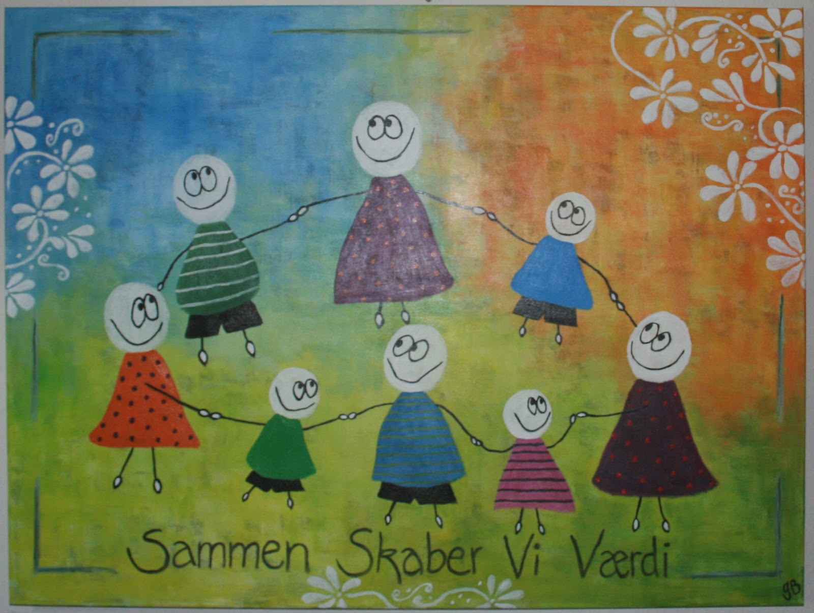 små malerier med citater Gitte Barlev: Om at give små malerier med citater