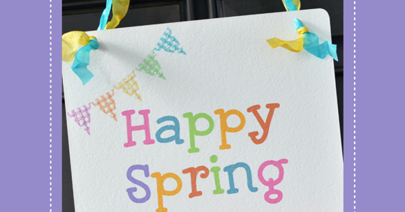 Free Printable Happy Spring Banner - Party Ideas   Party ...