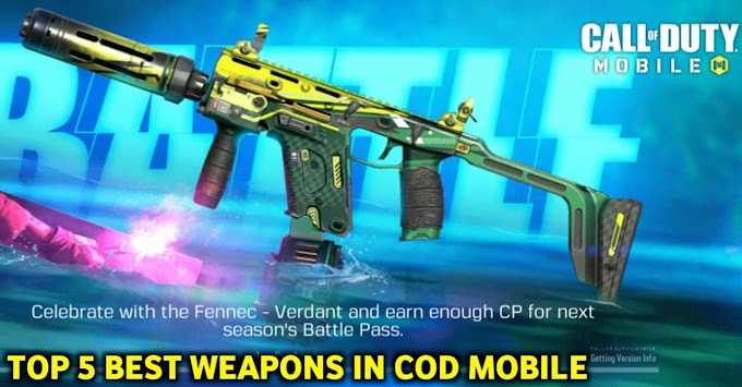 सबसे खतरनाक! Top 5 Best Weapons in Call of duty mobile Android/ios Lover के लिए