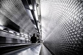 photo noir et blanc Garret Strang metro