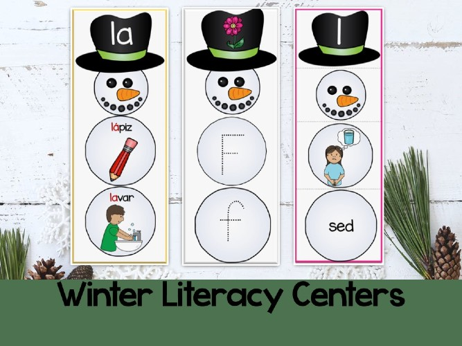 Try These  New Winter Favorite STRESS-FREE Literacy Centers in Your Classroom
