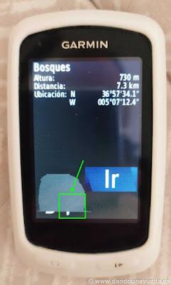Crear ubicación manualmente en GPS Garmin Edge