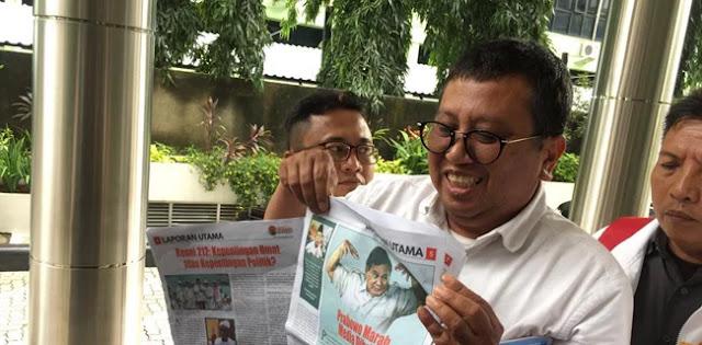 BPN Prabowo-Sandi Lapokan Pimpinan Tabloid Indonesia Barokah Ke Bareskrim