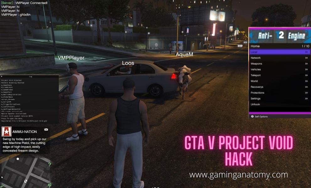 GTA 5 Hacks, Project Void, Teleport, Mod menu hack, Antiban