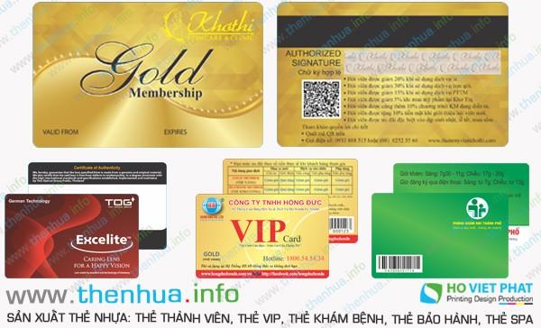 Sản xuất thẻ member bằng nhựa pvc cao cấp giá rẻ uy tín