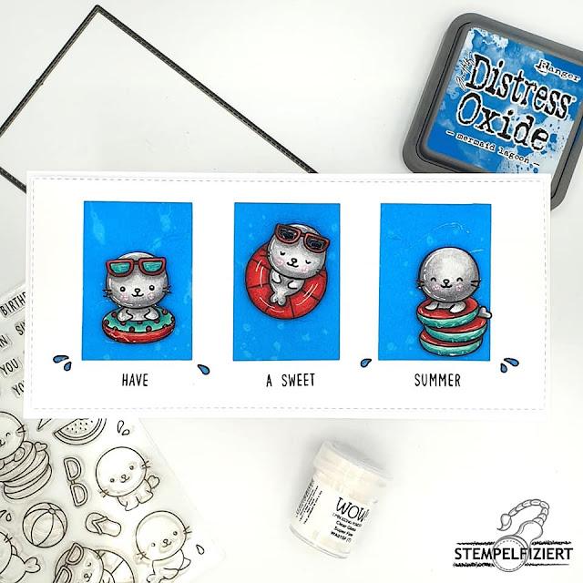 Sunny Studio Stamps: Sealiously Sweet Customer Card by Nicole Kayaalp