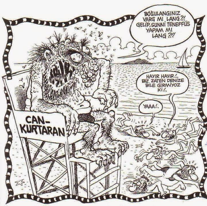 karikatür iğrenç cankurtaran