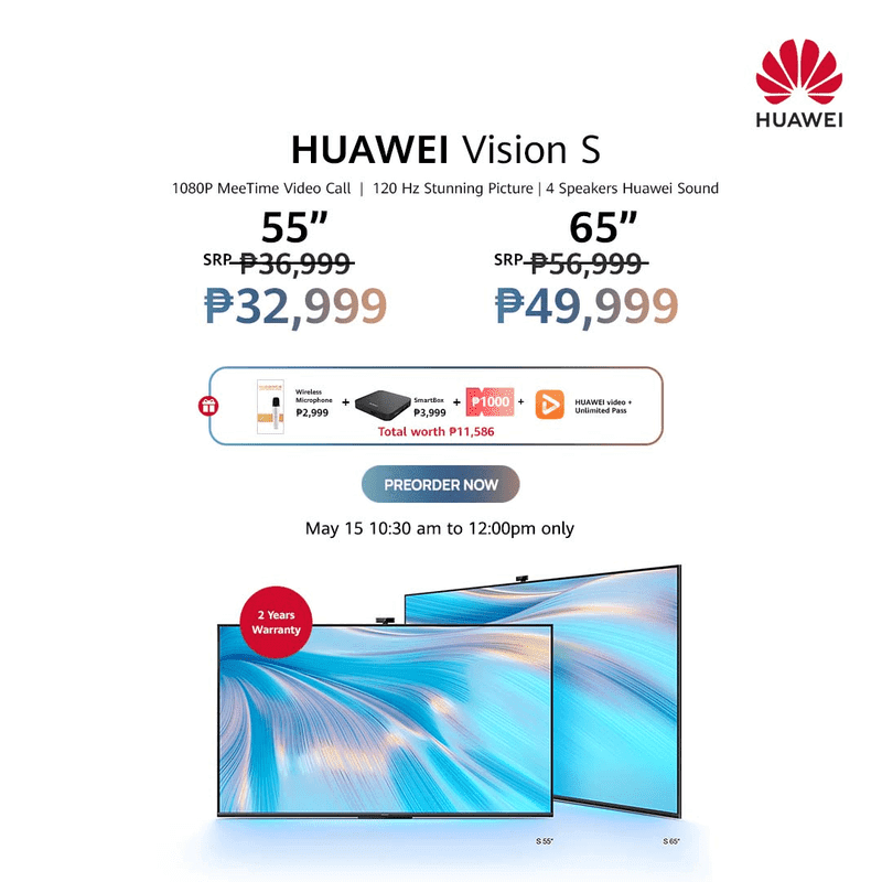Shopee announces Huawei Vision S series exclusive pre-order sale