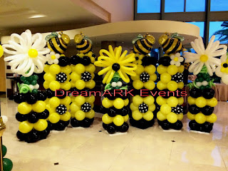 Honey Bee balloon columns