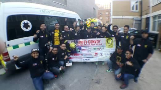 Sukarelawan Malaysia Membawa Ambulan Berkonvoi Menyertai Siri Bantuan Ke Syria