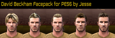 PES 6 Faces David Beckham (24 years old to 44 yeas old ) by Jesse