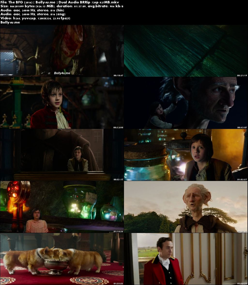 The BFG 2016 BluRay 800Mb Hindi Dubbed Dual Audio 720p Download