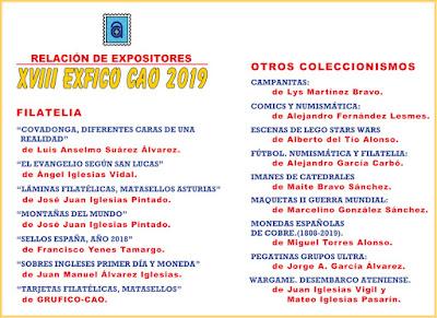 díptico, exposición, expositores, colecciones, centro Asturiano, 2019