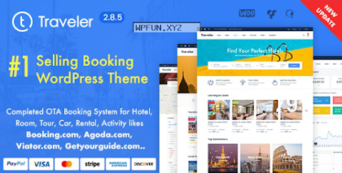Traveler v2.8.5 – Travel Booking WordPress Themenulled