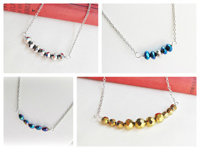image precious metal bar necklaces aurum niobium titanium vanadium blue silver gold purple