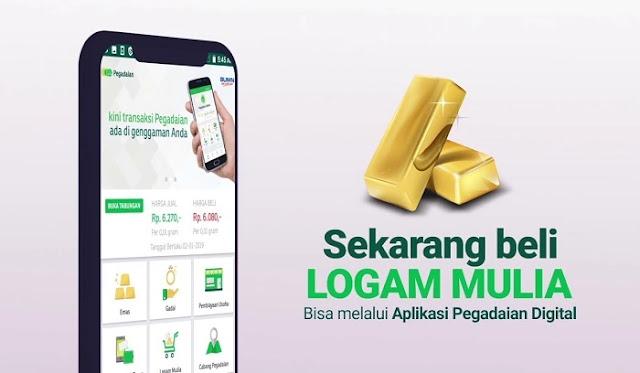 Aplikasi Pegadaian, jual-beli dan investasi emas