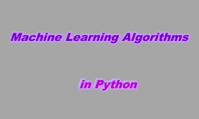 Machine Learning Algorithms in Python