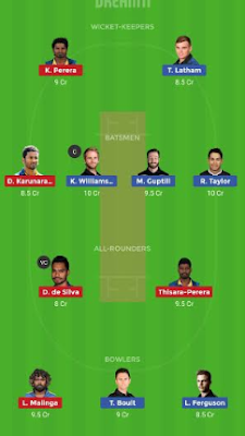 NZ vs SL dream 11 team