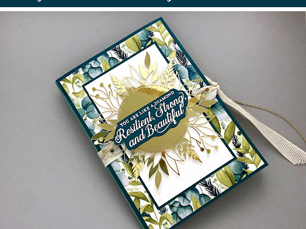 Accordion Card with the Forever Greenery Suite