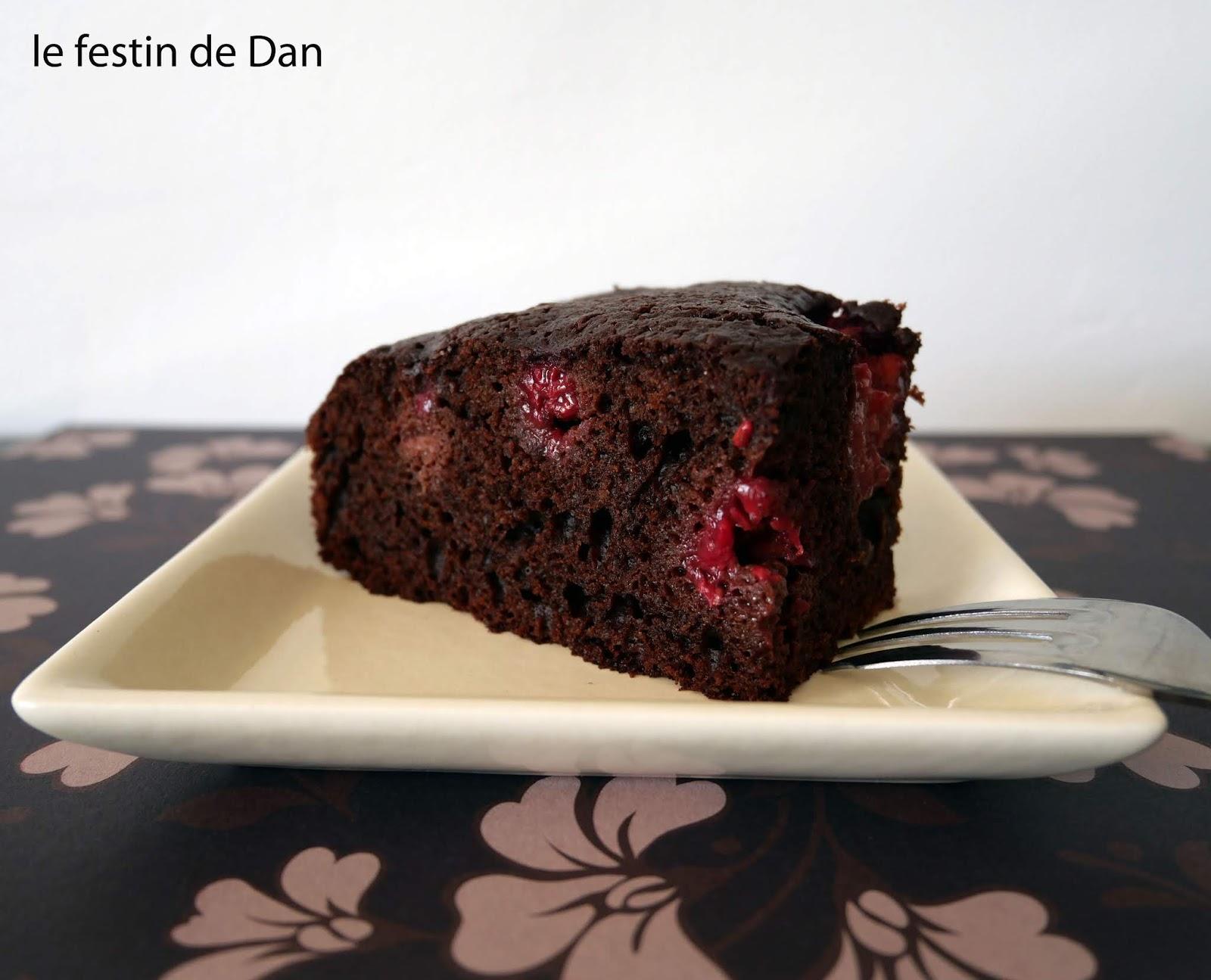 Le Festin de Dan: Moelleux au Chocolat et Framboises *Cake ...