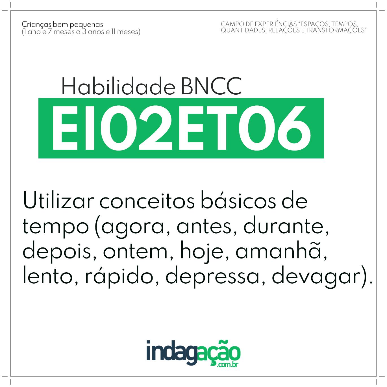 Habilidade EI02ET06 BNCC