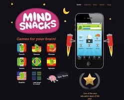 App Mindsnacks (langue etrangère)
