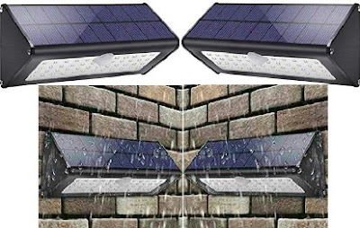 Licwshi Solar Wall Lamps: Outdoor Weather-Proof Sunlight-Powered Security Lights