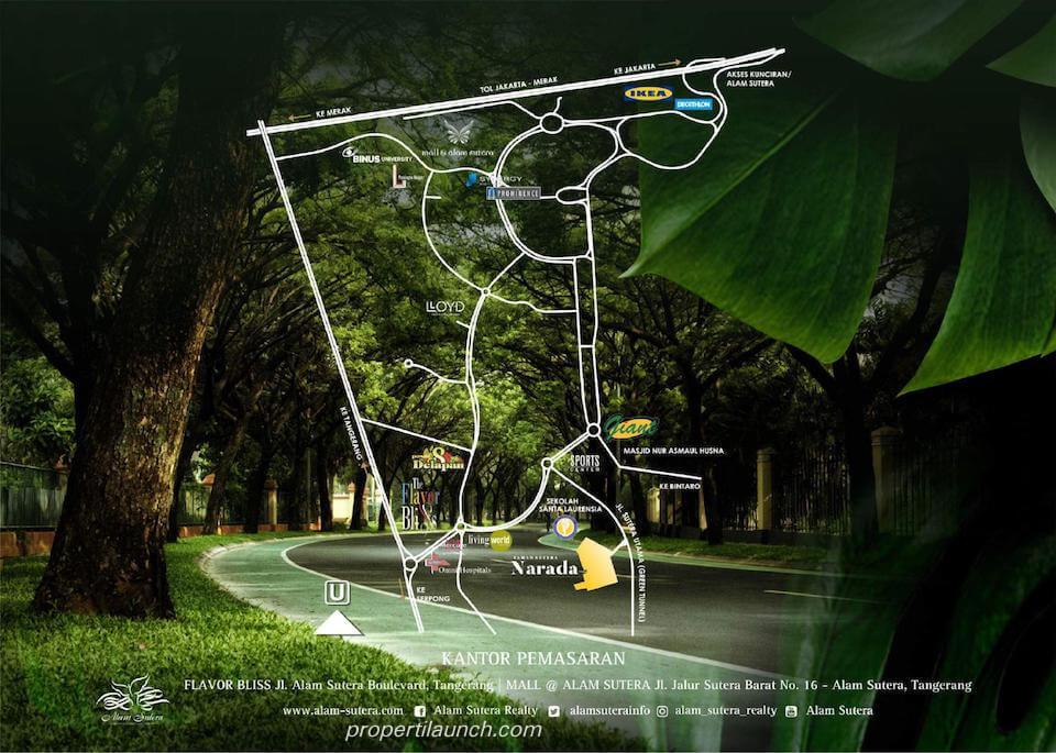 Peta lokasi Cluster Sutera Narada