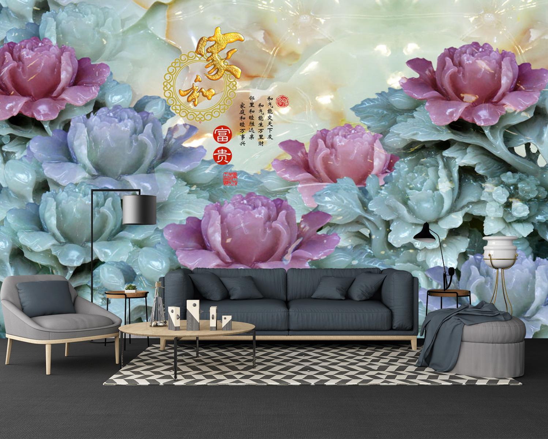 Tranh Dán Tường 3D Hoa Ngọc Bích