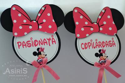 Set props-uri amuzante pentru sedinta foto botez tematic Minnie Mouse Pasionata, Copilaroasa