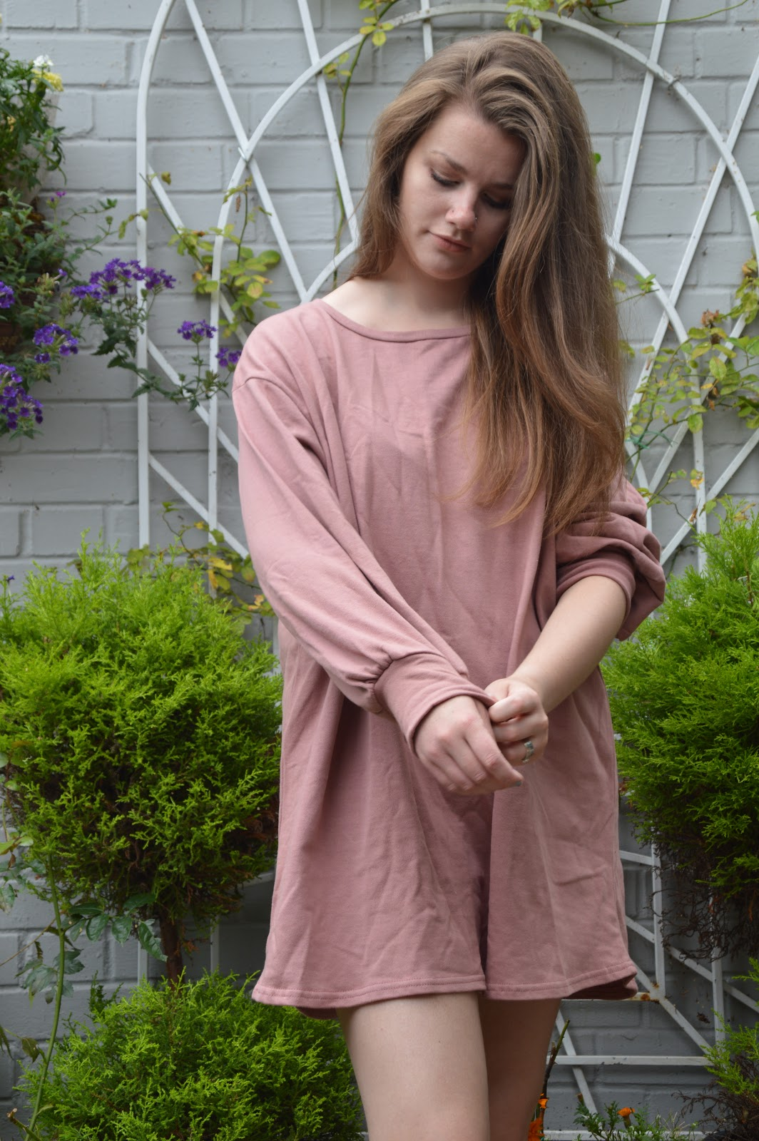 cd5a8674d44 Although it s as creased as heck but lets just ignore that  I am absolutely  loving the Sianna Dark Mauve oversized sweater dress for £18.