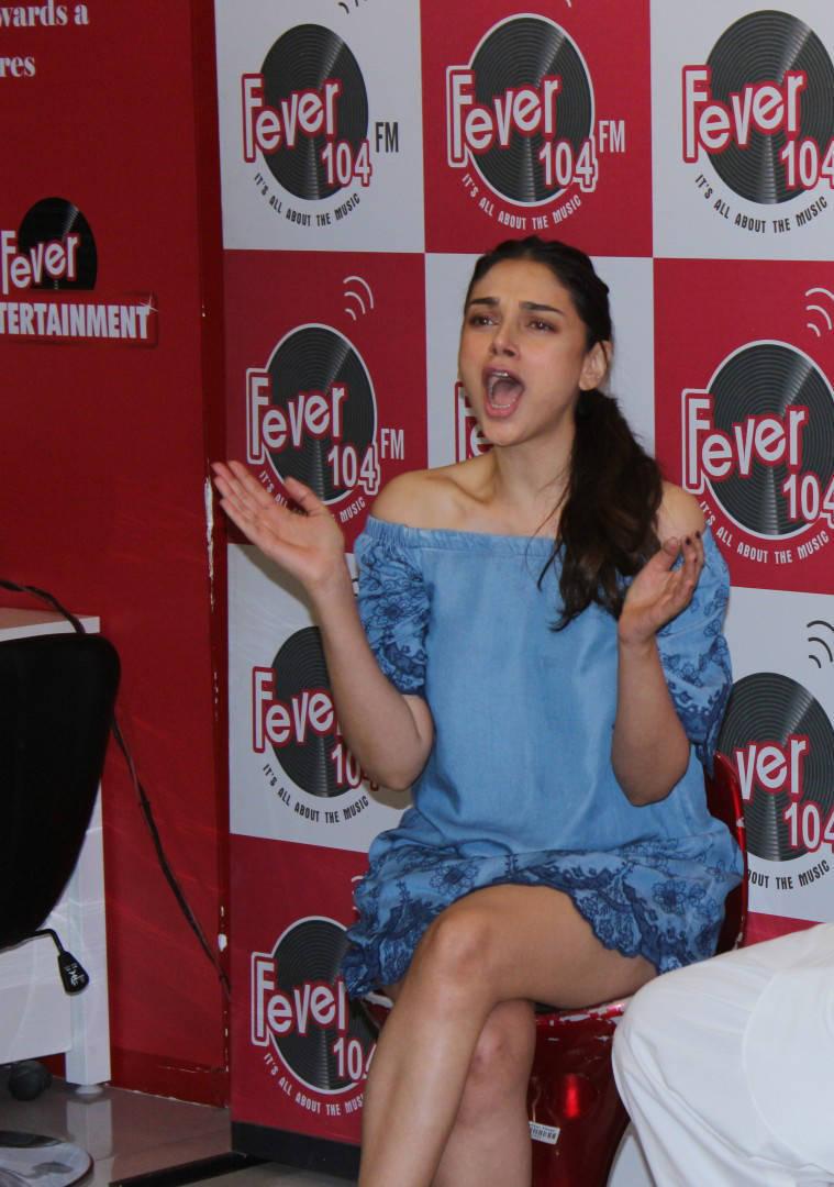 Aditi Rao Hydari At Bhoomi Movie Promotions Stills