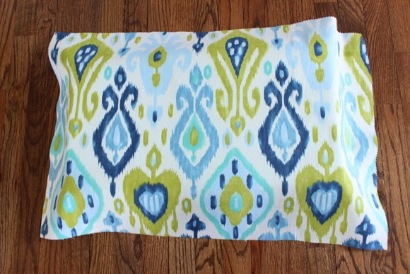 ikat fabric blue and green