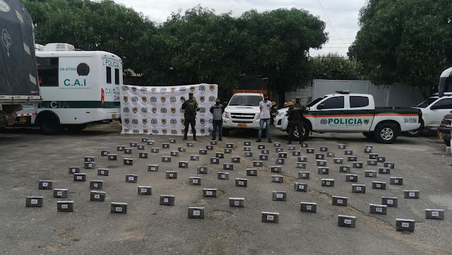 En Aguachica se 'cayeron' con 108 kilos de coca que iban para La Guajira