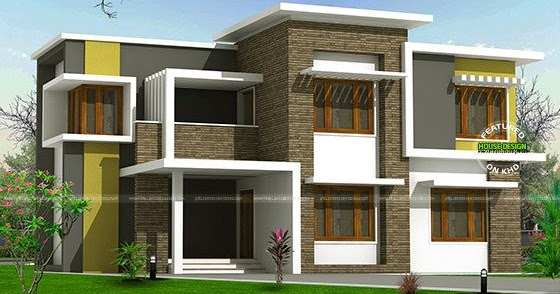 2300 sq-ft box type home - Kerala home design and floor plans