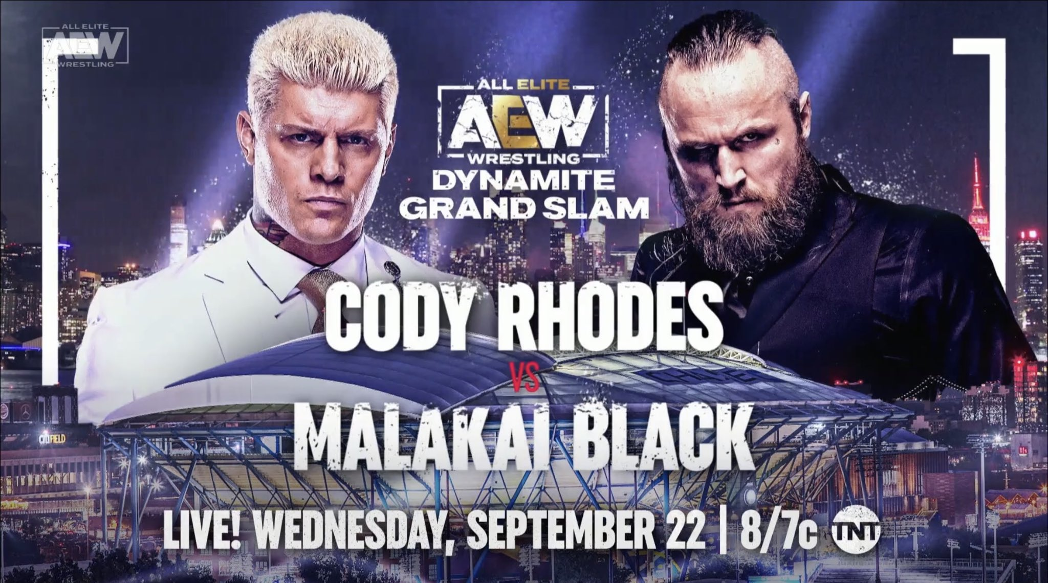 Cody Rhodes vs. Malakai Black acontecerá no AEW Dynamite Grand Slam