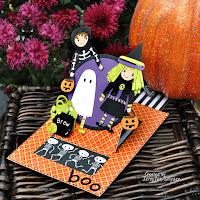 Halloween Slider Pop-up Card