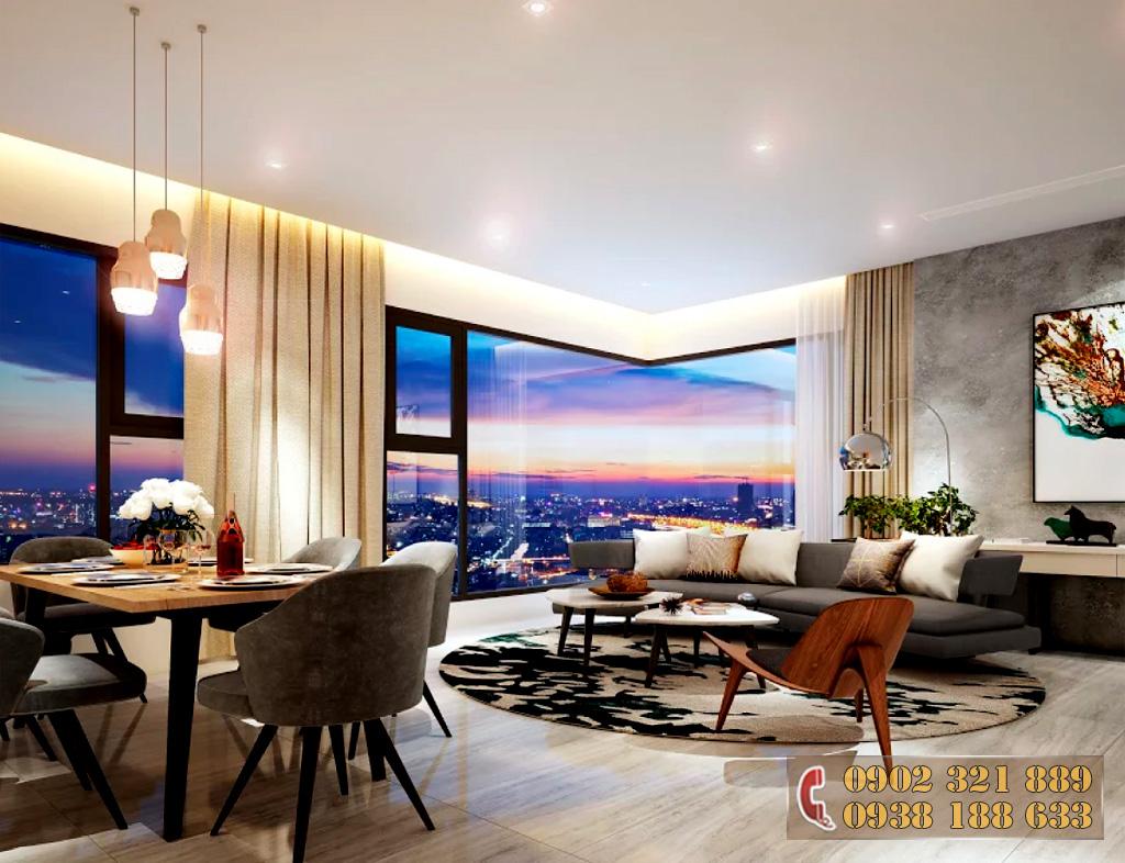 Nội thất căn hộ Kingdom 101 - Phòng khách căn hộ 3A