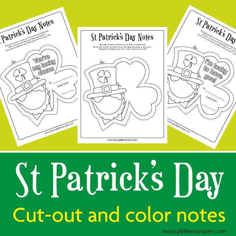 St Patrick's Day printable notes