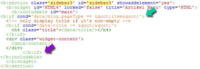 Memasang Widget Artikel Terbaru Tanpa Gambar