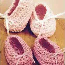 Zapatitos 0 a 3 meses a Crochet