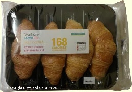 Diets And Calories Reduced Fat French Butter Croissants