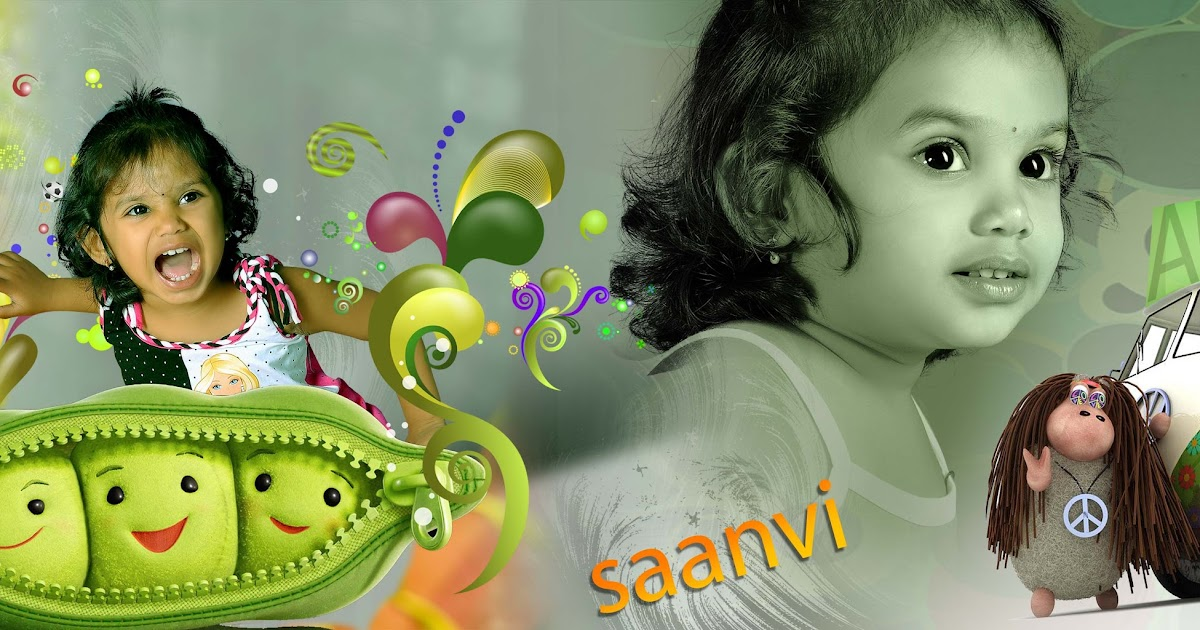 Baby Birthday Album Design 14x40 PSD Templates | mix