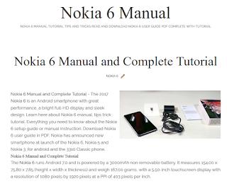 Nokia 6 Guide Tutorial Nokia 5, 3 and Nokia 3310 2017 Manual