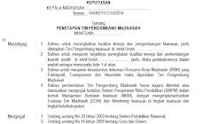 Terbaru Contoh SK Tim Pengembang Madrasah