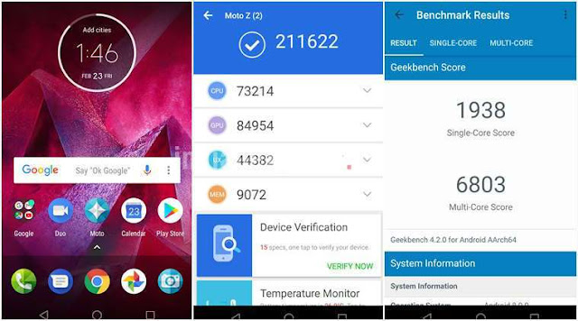 Moto Z2 Force Review: Software