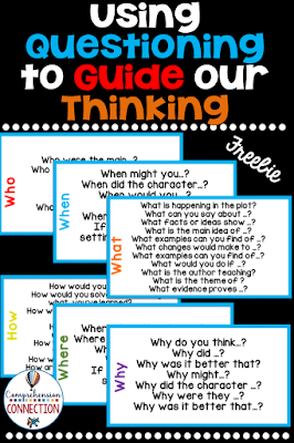 Teaching students to use questions to guide their thinking is a skill that takes time and practice. This hands on tool will help your students with generating questions using the 5 W plus H words. Here is the link on TPT: https://www.teacherspayteachers.com/Product/Question-Stem-Ring-for-the-5-Ws-plus-H-Freebie-3153734