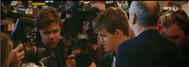 World Chess Champion Magnus Carlsen Has Landed In Oslo Watch Live On Nrk Tv Right Now India 6 30 Pm World Chess Championship 2013 Viswanathan Anand Vs Magnus Carlsen At Chennai Hyatt Regency